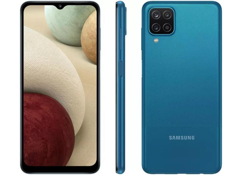 Smartphone Samsung Galaxy A12 SM-A125MZ 64GB Câmera Quádrupla 2 Chips Android 10