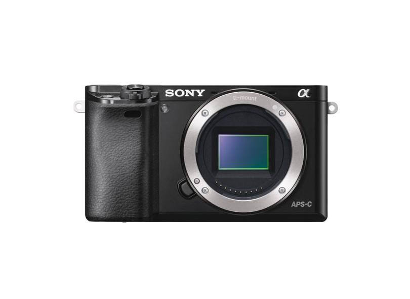 Câmera Digital Semiprofissional Sony Alpha 24.3 MP Full HD ILCE-6000