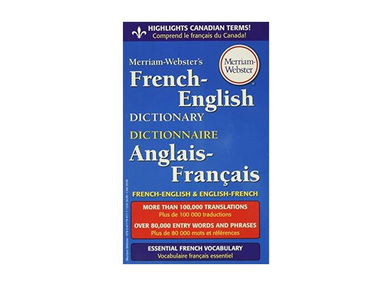 Merriam-Webster's French-English Dictionary - Merriam-webster - 9780877799177