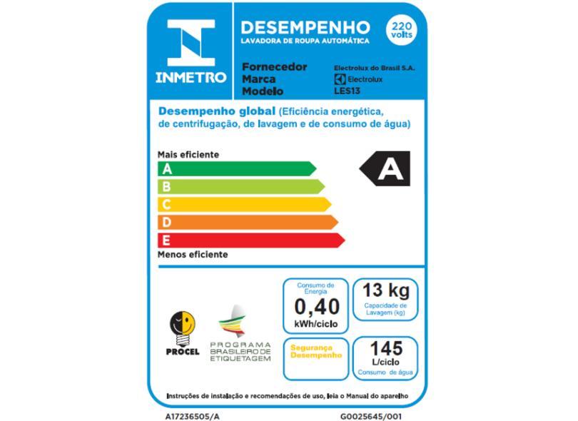 Lavadora Electrolux Essencial Care 13kg LES13