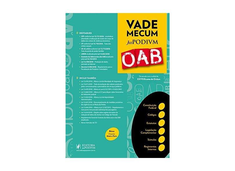 Vade Mecum Juspodivm OAB: de Acordo com o Edital do XXVII Exame de Ordem - Editora Juspodivm - 9788544222720