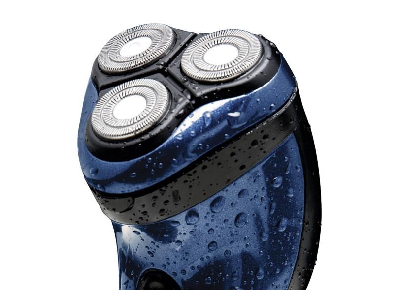 Barbeador Elétrico à Bateria recarregável Philco Aqua Blue
