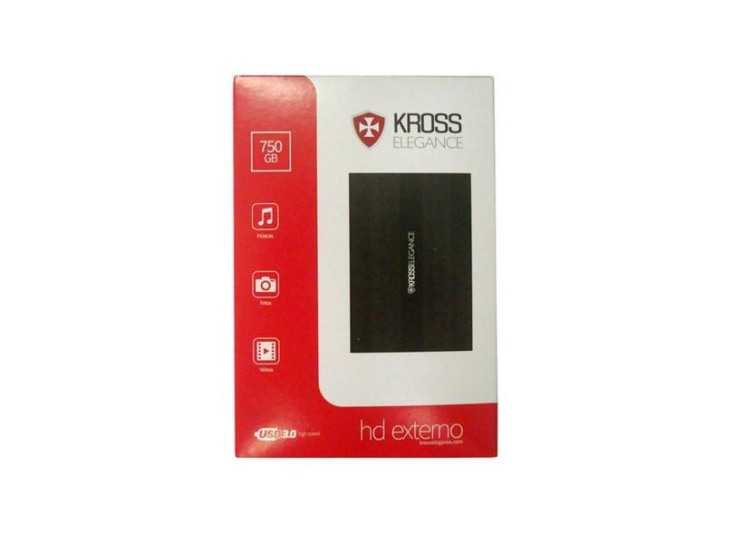 HD Externo Portátil Kross Elegance KE-HD750U 750 GB