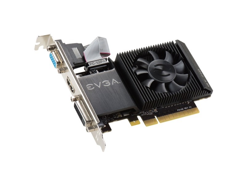 Placa de Video NVIDIA GeForce GT 710 2 GB DDR3 64 Bits EVGA 02G-P3-2713-KR