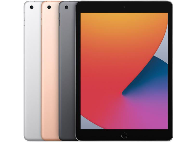 "Tablet Apple iPad 8ª Geração Apple A12 Bionic 4G 32.0 GB Retina 10.2 "" iPadOS 14 8.0 MP"