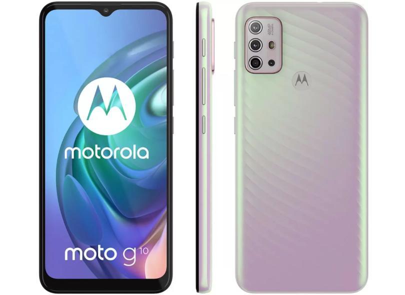 Smartphone Motorola Moto G G10 XT2127-2 4 GB RAM 4 GB 128GB Câmera Quádrupla Qualcomm Snapdragon 460 2 Chips Android 11
