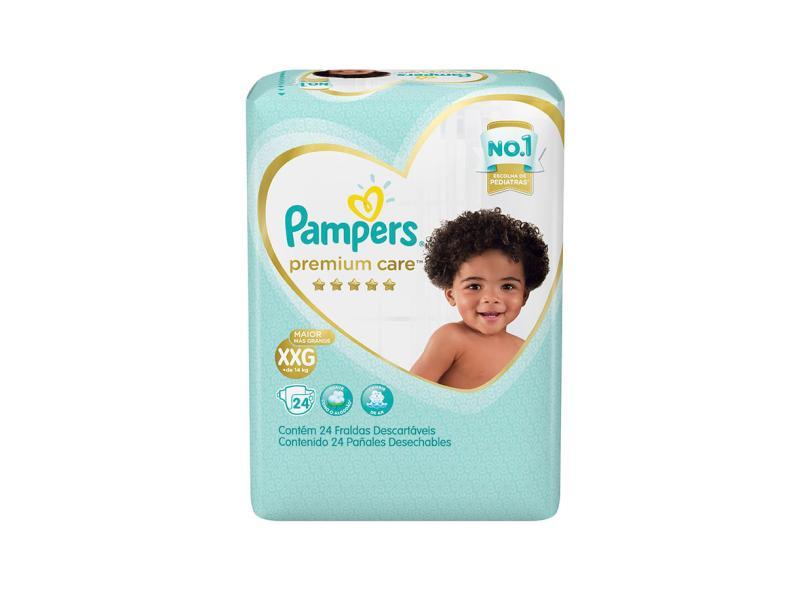 Fralda Pampers Premium Care XXG 24 Und +14kg