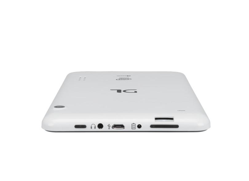 "Tablet DL Eletrônicos 8 GB TFT 7"" Android 4.4 (Kit Kat) X-Pro Dual"