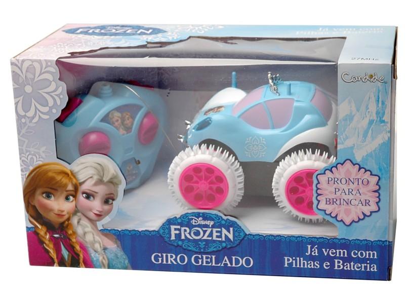 Carrinho de Controle Remoto Candide Frozen Giro Gelado