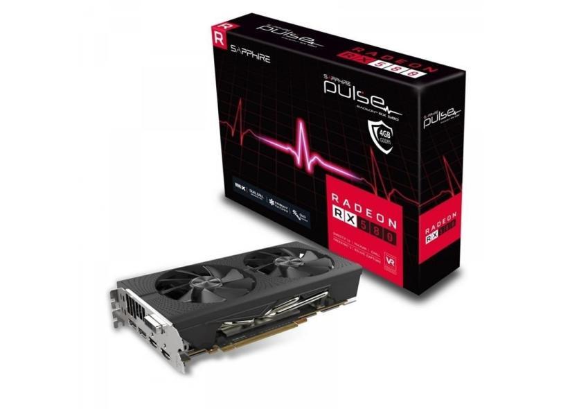 Placa de Video ATI Radeon RX 580 4 GB GDDR5 256 Bits Sapphire 11265-09-20G