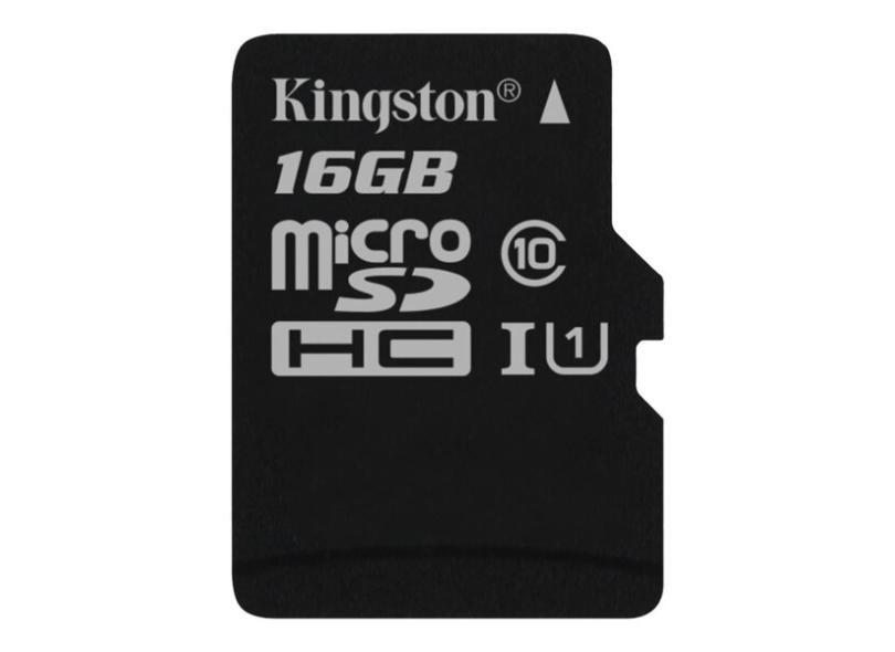 Cartão de Memória Micro SDHC Kingston Canvas Select 16 GB SDCS/16GB