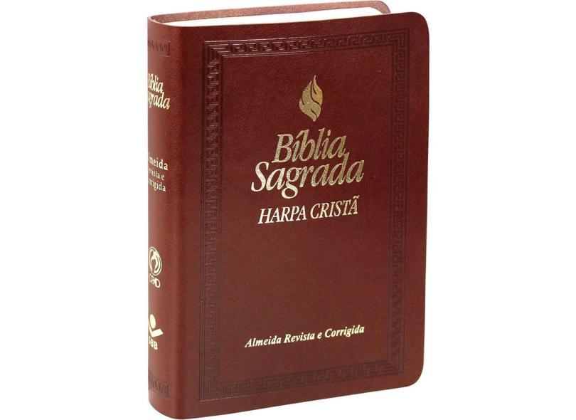 Bíblia Sagrada - Letra Maior com Fonte de Bençãos e Harpa Cristã - Vários Autores - 7899938405703