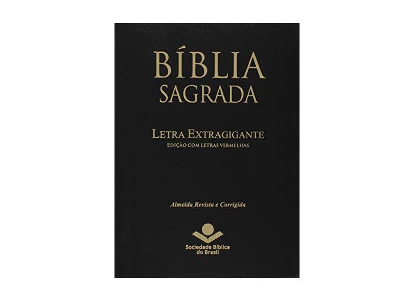 Bíblia Sagrada - Letra Extra Gigante. Capa em Couro Bonded com Índice Digital. Preta - Vários Autores - 7899938402597