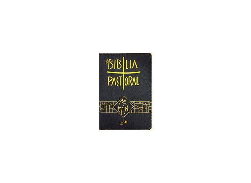 Nova Bíblia Pastoral - Média Zíper Jeans - Paulus - 9788534941693