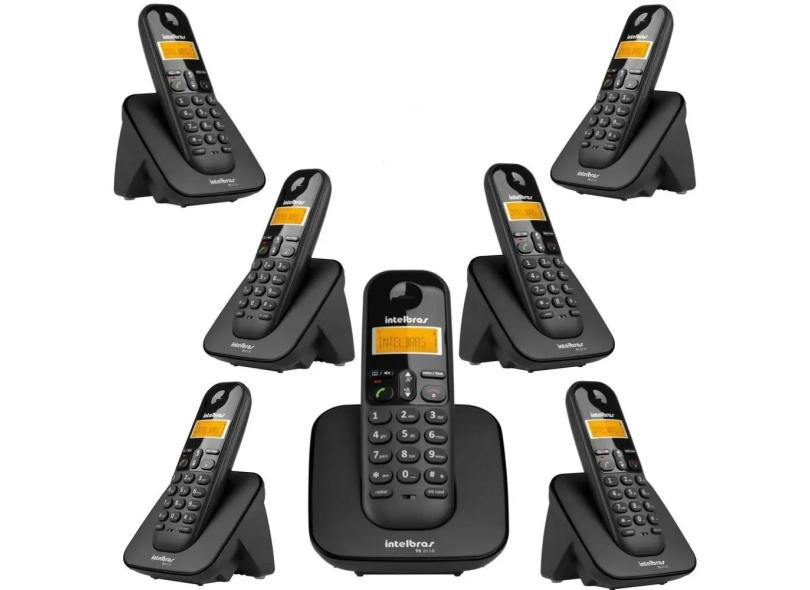 Telefone sem Fio Intelbras com 6 Ramais TS3110 + 6