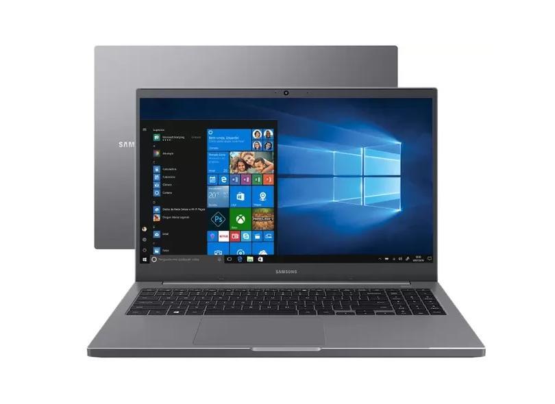 """Notebook Samsung Book Intel Core i7 1165G7 11ª Geração 8 GB de RAM 256.0 GB 15.6 """" Full Windows 10 NP550XDA-KS1BR"""