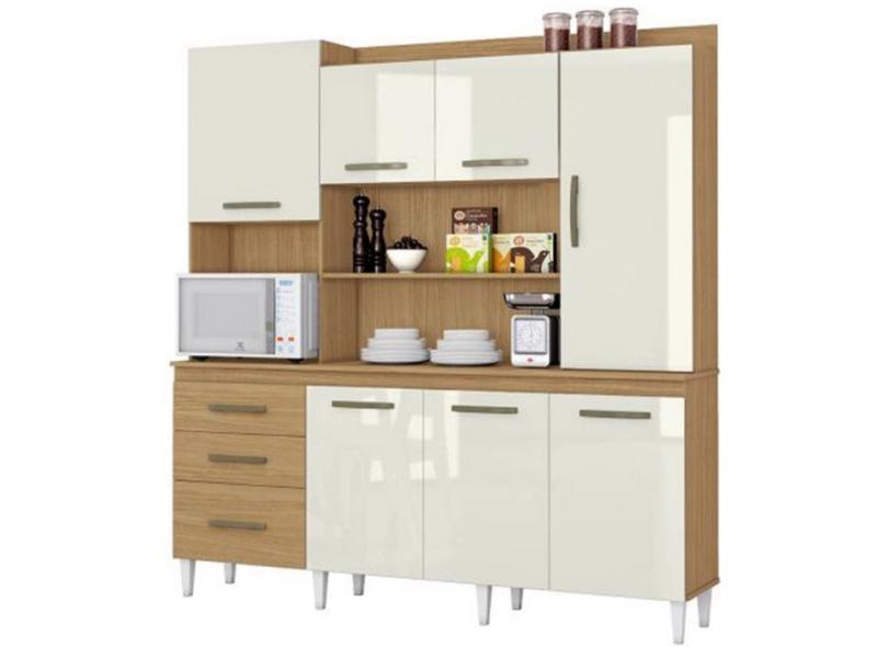 Cozinha Completa 3 Gavetas 7 Portas Mirela Aramóveis