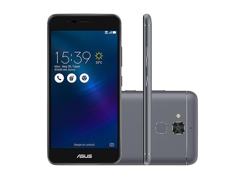 Smartphone Asus ZenFone 3 Max 16GB ZC520TL 13,0 MP 2 Chips Android 6.0 (Marshmallow) 3G 4G Wi-Fi