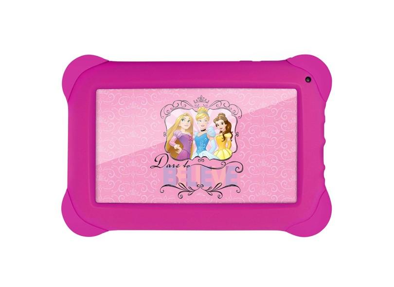 """Tablet Multilaser 8.0 GB LCD 7 """" Android 4.4 (Kit Kat) Disney Princesas NB239"""