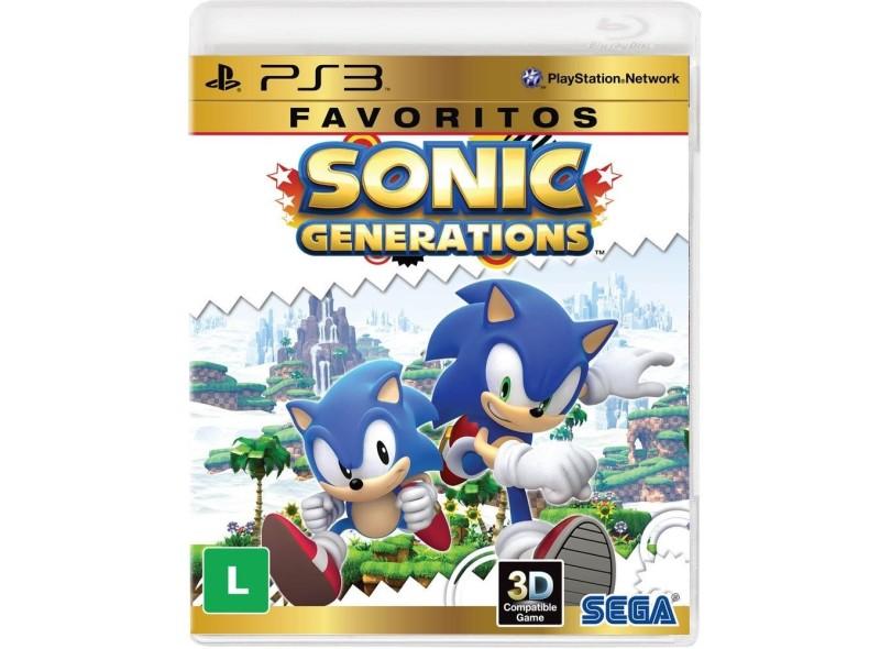 Jogo Sonic Generations PlayStation 3 Sega