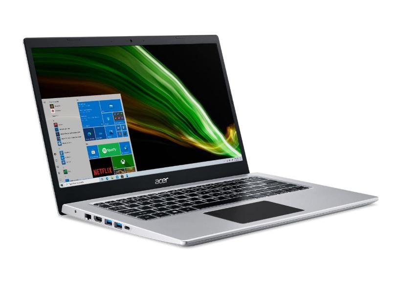 """Notebook Acer Aspire 5 Intel Core i3 1005G1 10ª Geração 8GB de RAM SSD 256 GB 14"""" Windows 10 A514-53-39KH"""