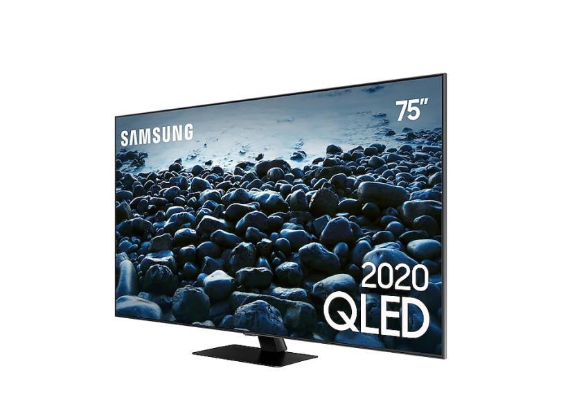 """Smart TV TV QLED 75 """" Samsung Q80T 4K QN75Q80TAGXZD 4 HDMI"""