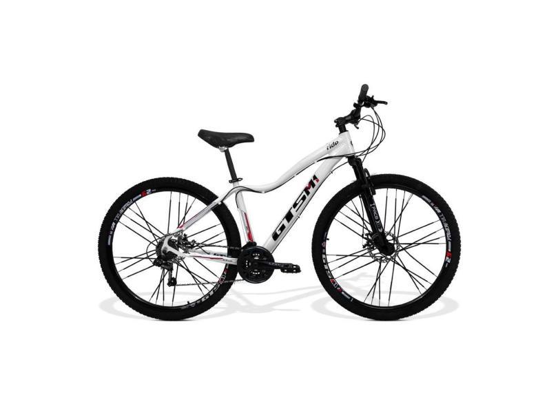 Bicicleta GTSM1 24 Marchas Aro 29 Suspensão Dianteira a Disco Ride Feminina