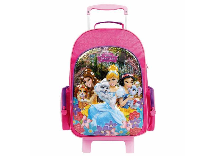 Mochila com Rodinhas Escolar Dermiwil Disney Princesas 30386