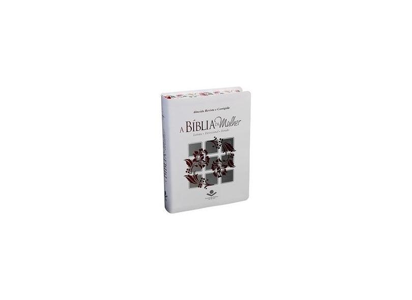 A Bíblia da Mulher Índice - Branca - Com Bordas Floridas - Sociedade Bíblica Do Brasil - 7899938400050