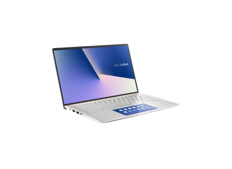 """Notebook Asus Zenbook 14 Intel Core i7 10510U 10ª Geração 8.0 GB de RAM Híbrido 256.0 GB 14 """" Full Windows 10 UX434FAC-A6339T"""