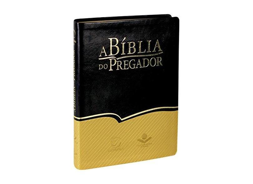 A Bíblia da Pregadora - Capa em Couro Sintético. Preta e Dourada - Vários Autores - 7899938404348