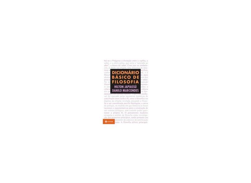 Dicionário Básico de Filosofia - Japiassu, Hilton - 9788571100954