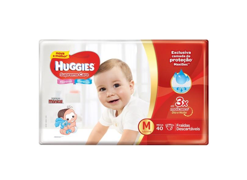 Fralda Huggies Supreme Care MaxiSec M Mega 40 Und 5,5 - 9,5kg