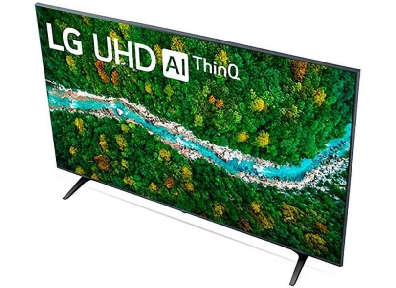 """Smart TV TV LED 60"""" LG ThinQ AI 4K HDR 60UP7750PSB 3 HDMI"""