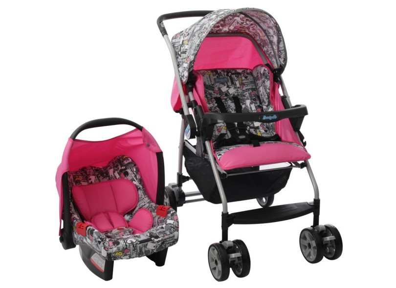 Carrinho de Bebê com Bebê Conforto Burigotto Rio K