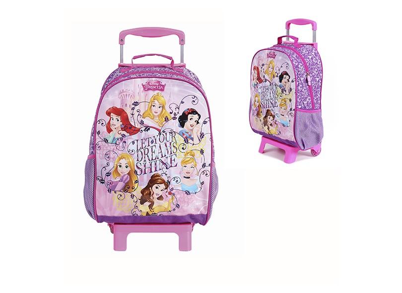 Mochila com Rodinhas Escolar Dermiwil Princesas da Disney Dreams G 37217