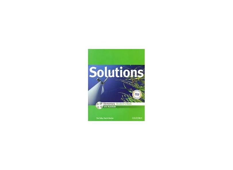 Solutions: Elementary Student Book with MultiROM Pack - Tim Falla - 9780194551502