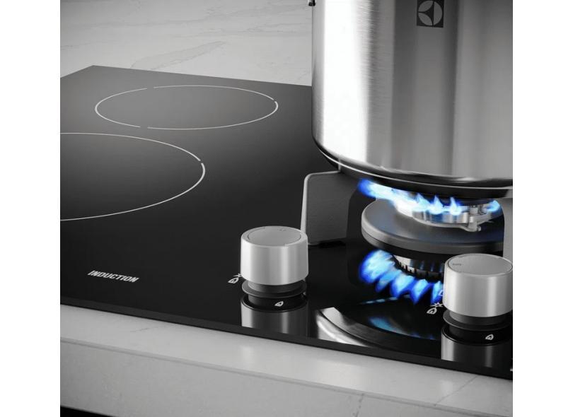 Cooktop Electrolux 4 Bocas Acendimento Superautomático IE60H Híbrido