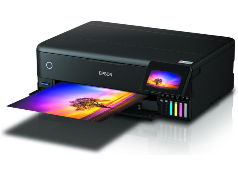 Impressora Multifuncional Epson Ecotank L8180 / C11CJ21302 Tanque de Tinta Colorida Sem Fio