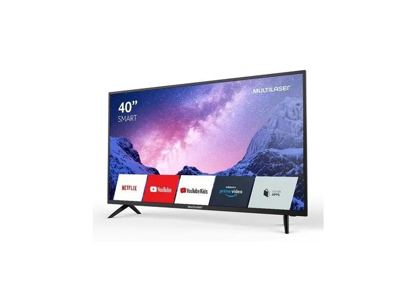 """Smart TV TV LED 40"""" Multilaser Full HD TL030 2 HDMI"""