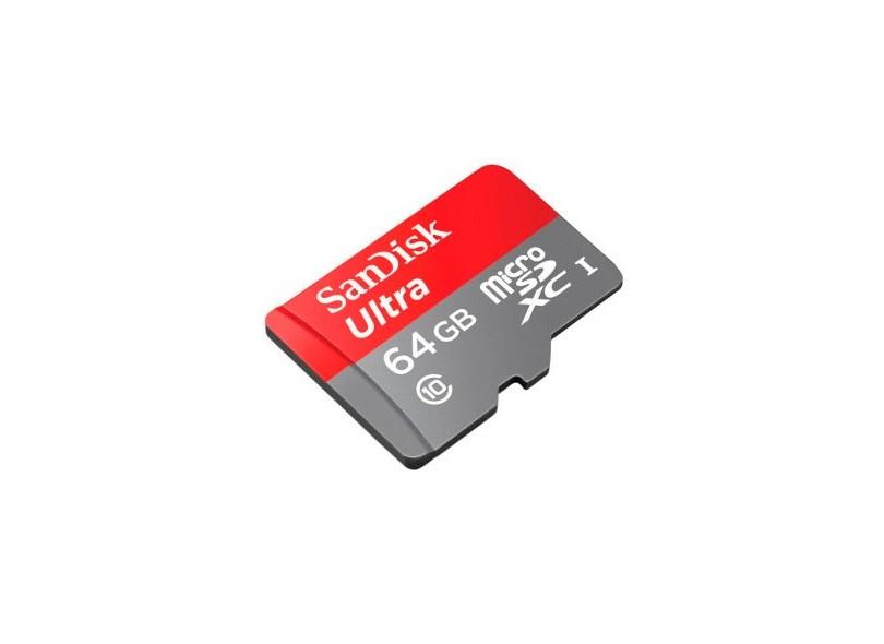 Cartão de Memória Micro SDXC-I com Adaptador SanDisk Ultra 64 GB SDSDQUAN-064G