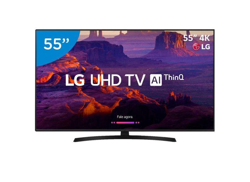 """Smart TV TV LED 55"""" LG 4K 55UK631C 4 HDMI"""
