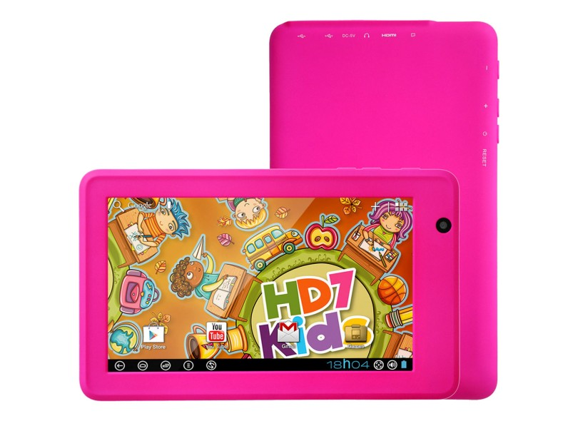 "Tablet DL Eletrônicos 4 GB TFT 7"" Android 4.0 (Ice Cream Sandwich) HD7 Kids"