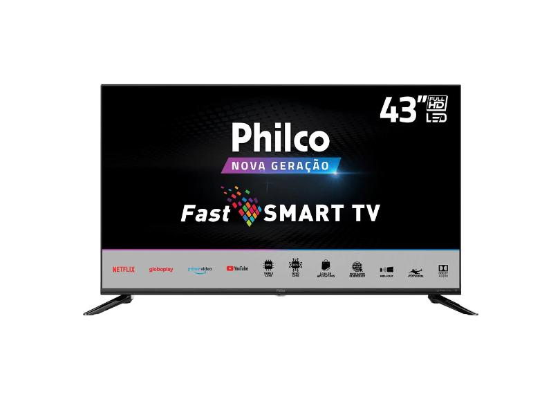 "Smart TV TV LED 43 "" Philco Full PTV43N5CG70BLF 3 HDMI"