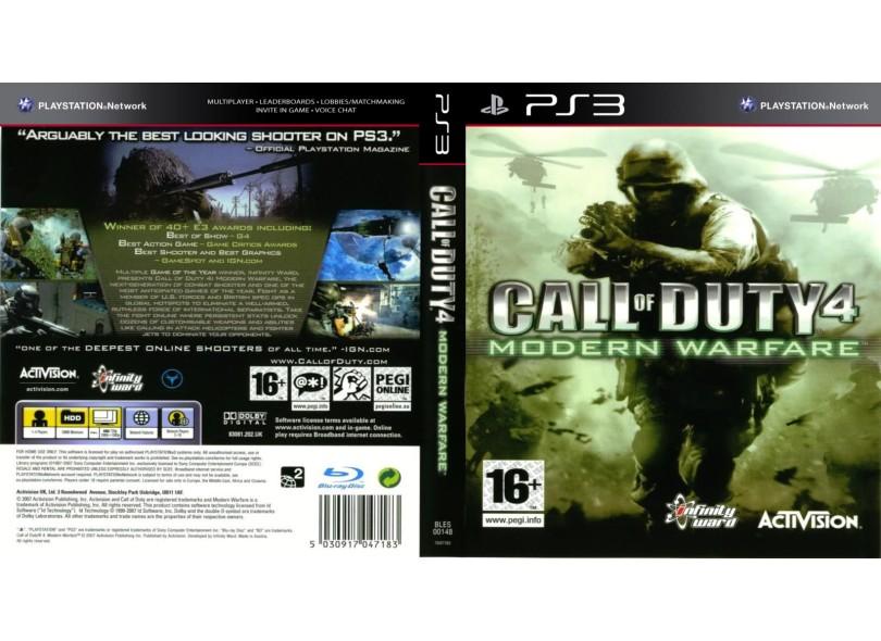 Jogo Call of Duty 4: Modern Warfare PlayStation 3 Activision