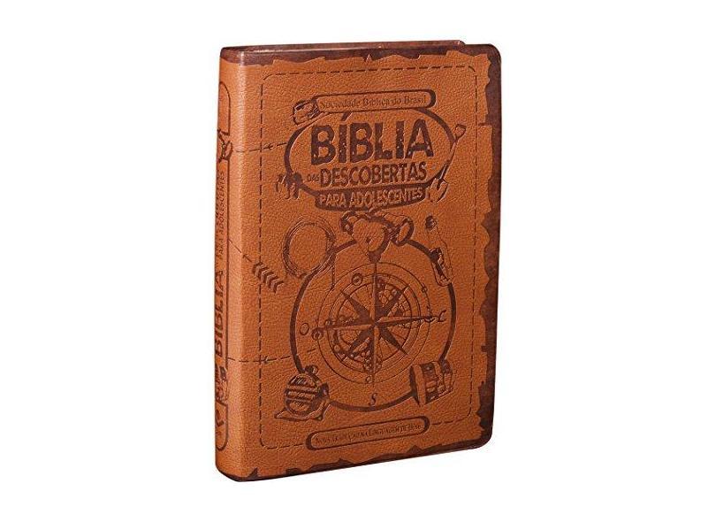 Bíblia Das Descobertas Para Adolescentes - Capa Marrom - Brasil, Sociedade Bíblica Do - 7898521807887