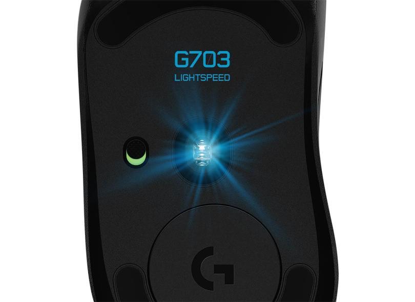 Mouse Óptico Gamer sem Fio USB G703 Lightspeed - Logitech