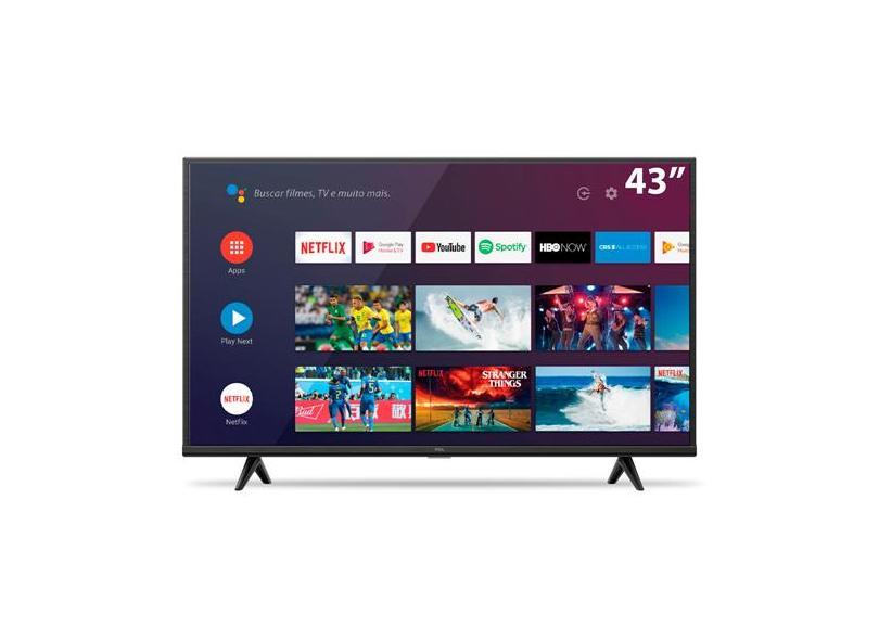 """Smart TV TV LED 43 """" TCL 4K 43P615 3 HDMI"""