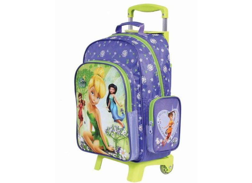 Mochila com Rodinhas Escolar Dermiwil Fadas Disney 37064