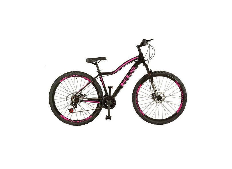 Bicicleta Feminina KLS 21 Marchas Aro 29 Suspensão Dianteira a Disco Mecânico Mountain Bike